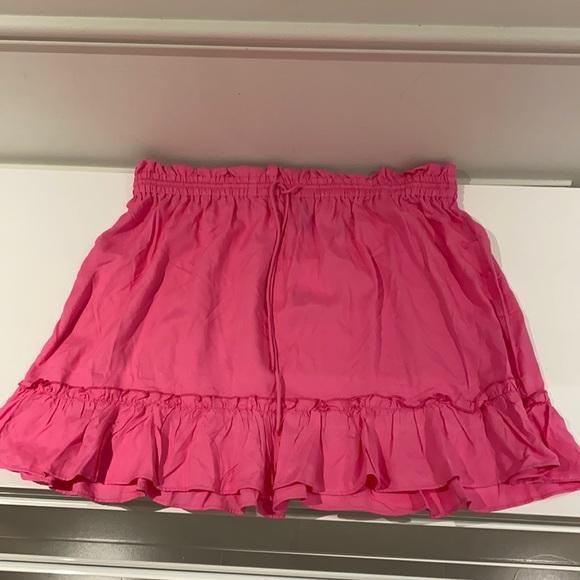 Pink flowy skirt